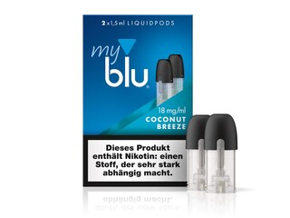 myblu Coconut Breeze Liquidpod - 2x 1,5 ml (Füllmenge) - 18mg/ml (Nikotin)