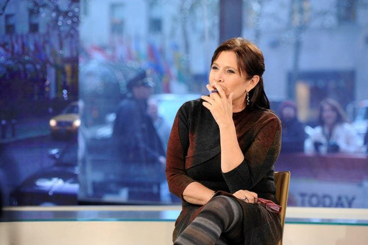 Celeb Carrie Fisher Vaping