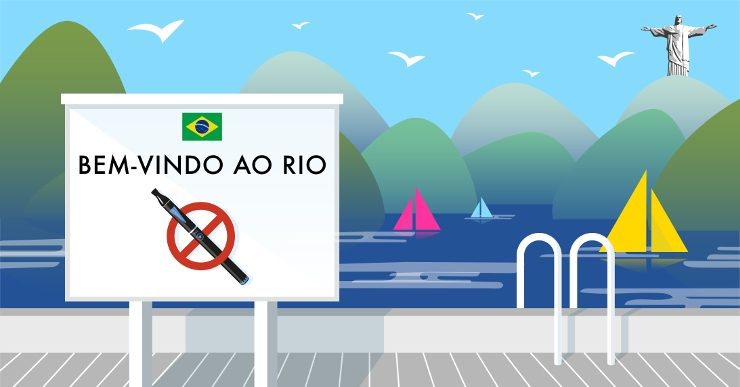 A sign written in Portuguese saying that vaping is not allowed