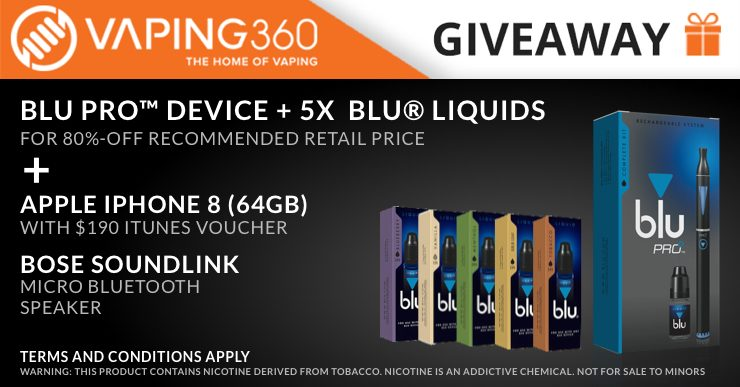 blu and Vaping360 Giveaway | blu