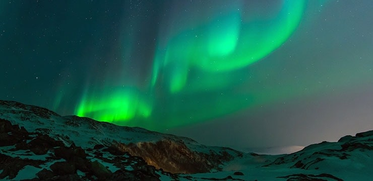 A photo of the Northern Lights