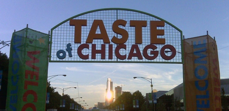 A photo of the entrance to the Taste Of Chicago festival