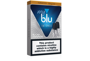 2x myblu™ Tobacco and 2x myblu™ Blueberry Intense liquidpods