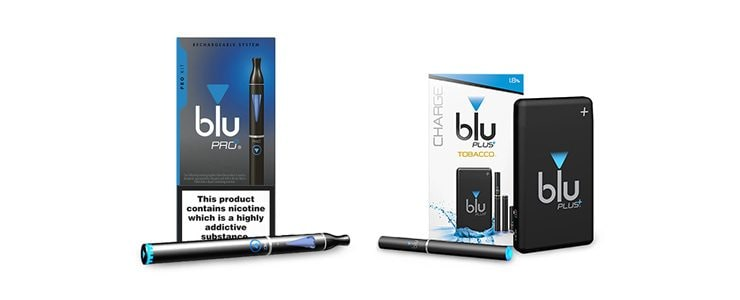 An image showing blu's new products, including the blu PRO Kit and the blu PLUS Charge Kit