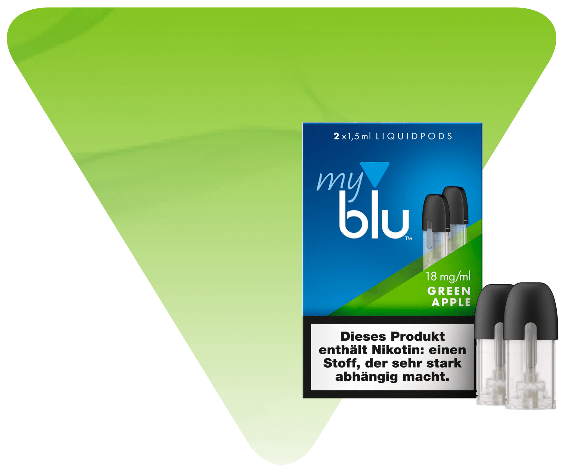 myblu Green Apple Liquidpod