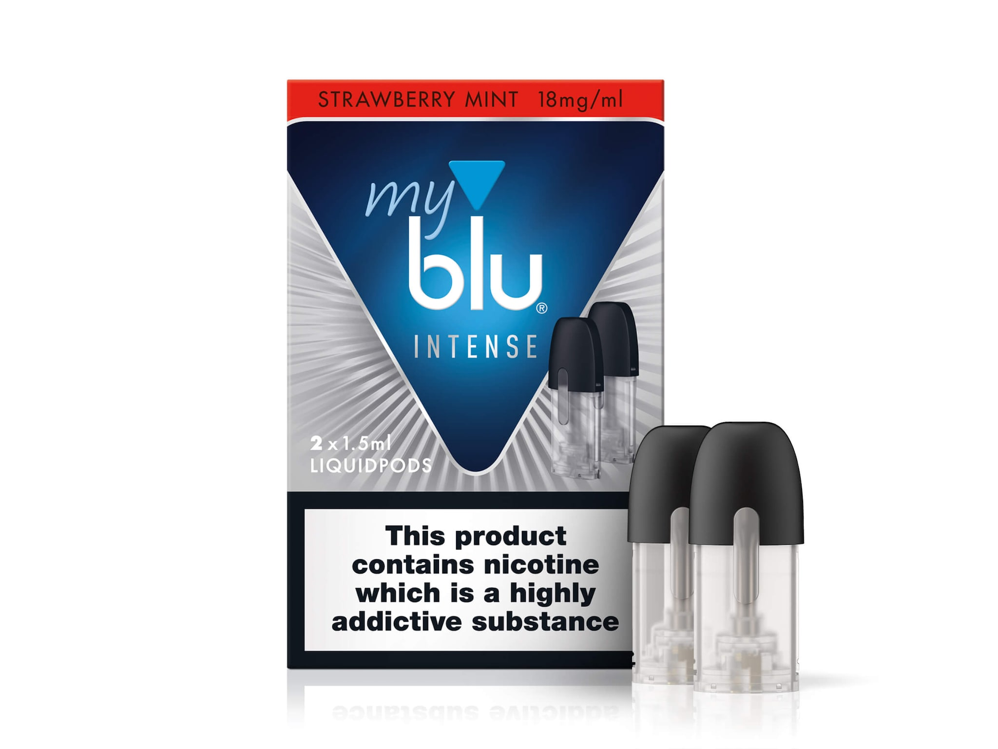 myblu™ Intense Liquidpod Strawberry Mint Flavour