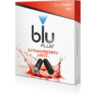 blu PLUS+™ Strawberry & Mint E-Cig Cartridges - Medium-1 | blu®
